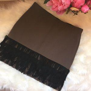 BB Dakota fringe bodycon skirt